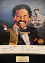 BILLY ECKSTINE Lithograph (Signed by numerous jazz greats!)