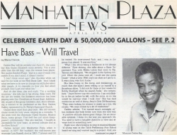 Carline Ray – The Manhattan Plaza News Cover Story (April 1996)
