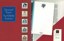 NARAS GRAMMY EDUCATIONAL PROGRAMS press kit with Grammy notepad