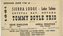 TOMMY DOYLE & Gene Englund & Norm Prentice Advertisement Postcard
