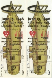 FIRST ANNUAL JAZZ AWARDS CONCERT Ticket: JUNE 15, 1998