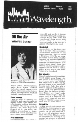 1992 WNYC Program Guide with Article on Phil Schaap