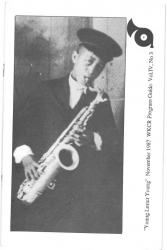 RARE: November 1987 WKCR Program Guide featuring Lester Young and Teddy Wilson Articles