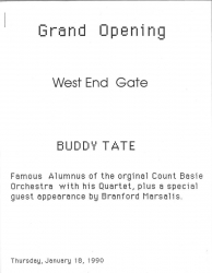 WEST END GATE Grand Opening, 1/18/1990, Program