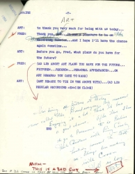 ORIGINAL SCRIPT: The Fred Astaire Show