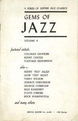 DECCA RECORDS Booklet: Gems of Jazz, vol. 4!