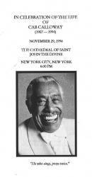 CAB CALLOWAY Funeral Program
