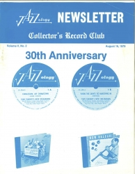 August 16, 1979 Volume V No. 2 Jazzology Newsletter - Collector's Record Club