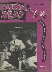 July 1, 1946, DOWNBEAT, w/VIVIEN GARRY Trio cover
