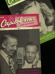 RARE PERIODICAL: The CAPITOL - News From Hollywood, FIVE Issue bundle, 1945 - 1947