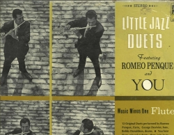 LITTLE JAZZ DUETS, Romeo Penque and You, for Flute, Music Minus One WITH MUSIC, SEALED MMO LP 4053