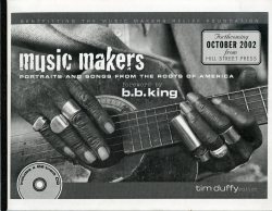 MUSIC MAKERS: Portraits and Songs from Roots of America (Proof Copy) Forward by B. B. KING!!