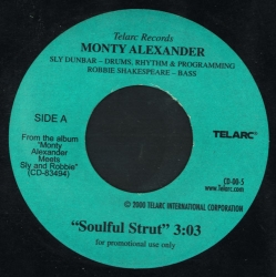 MONTY ALEXANDER Soulful Strut/Hot Milk 45RPM Telarc CD-00-5