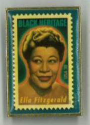 ELLA FITZGERALD First Day USPS Stamp Issue Pin!!