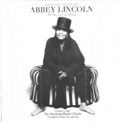 ABBEY LINCOLN Funeral Program 10/1/2010 w/pics & insert