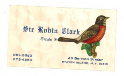 SIR ROBIN CLARK Business Card