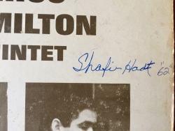SHAFI HADI SIGNED gatefold album cover (NO RECORD) for Chico Hamilton LP Passin' Thru