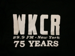 WKCR 75th anniversary t-shirt L