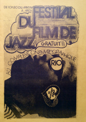FAT CAT SPECIAL: flyer for Jazz on film festival in FRANCE 1973