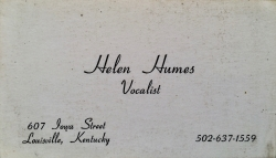 HELEN HUMES business card