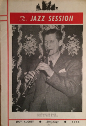 THE JAZZ SESSION July-August 1945 issue featuring Volly De Faut
