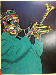 DIZZY GILLESPIE unique greeting card