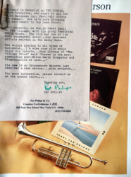 TED CURSON Press Kit signed by publicist Pat Philips
