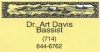 Dr. Art Davis business card