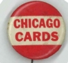 CHICAGO CARDS (National Football League pre-1960) Button