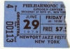 New York Newport Jazz Festival ticket stub 6/29/1973