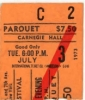 New Port Jazz Festival New York Ticket Stub 7/3/74