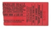 CARNEGIE HALL CENTENNIAL Ticket Stub, May 5, 1991!