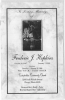 FRED HOPKINS Funeral Program January 16, 1999