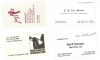 JACK BRADLEY / STAN MYERS / GUS STATIRAS / DICK SUDHALTER business cards!