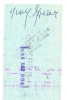 TINY GRIMES auto'd check 1/29/1977