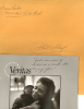 DORIS PARKER signed VERITAS booklet & envelope