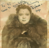 MILDRED BAILEY photo SIGNED and dated January 12, 1940