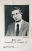 JOHNNY CARISI funeral program