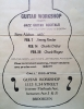 Brooklyn Guitar Workshop flyer 2/7/1982
