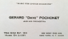 "Gerard ""Dave"" Pochonet business card"
