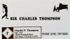 SIR CHARLES THOMPSON business card