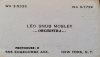 LEO SNUB MOSLEY business card