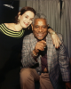 DIZZY GILLESPIE with singer—two unique photos