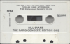 BILL EVANS The Paris Concert, Edition One cassette