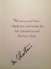 DOC CHEATHAM signed Christmas card!