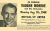 VAUGHN MONROE 1946 concert post card