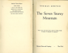 THOMAS MERTON's The Seven Storey Mountain 1st edition
