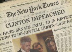 """""""CLINTON IMPEACHED,"""" Sunday NEW YORK TIMES, December 20, 1998"""