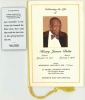 Jimmy Butts FUNERAL PROGRAM including bio with laminated funeral card