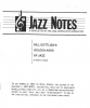 JAZZ NOTES  Numbers: Fall 1992, 4/4, 5/1, 5/2  (1992 - 1993)